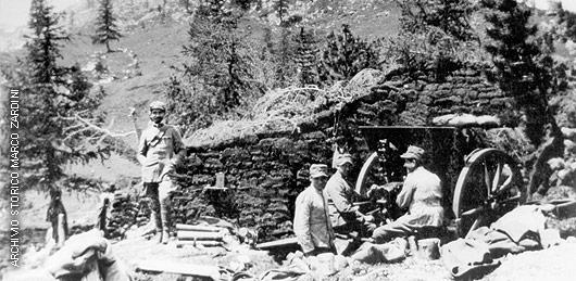 Postazione con cannone 75/29 mod. 1911
